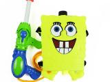 水枪玩具 儿童水枪玩具 背包式水枪玩具 海绵宝宝背包式水枪玩具