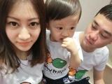 实体店进货童装代理一件代发儿童猴子吹气球短袖T恤 宝宝款亲子装