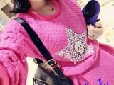 韩国女装 五角星骷髅头镶钻卫衣+蓬蓬半身裙套装 招一件代发501