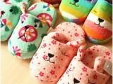 粉色樱花水果系列 宽版 梨花拖鞋 情侣拖鞋 棉拖鞋