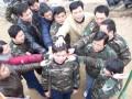 泰安拓展训练基地 泰山玻纤集团员工素质拓展 不畏风雪!