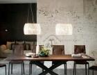 美式乡村loft铁艺实木餐桌椅复古工作台办公桌酒吧咖啡厅餐厅