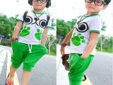 2014夏装新款休闲儿童运动套装男童小孩衣服岁男孩潮