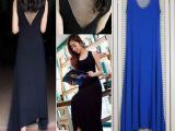 2014夏装欧美莫代尔沙滩裙 背心长裙 后背网纱拖地裙大裙摆连衣