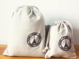 ZAKKA杂货 复古英伦风棉麻布艺拉绳束口袋 旅行收纳 生产厂家