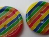 供应彩色条纹树脂扣,时装纽扣