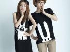 2014情侣装韩国夏装女裙韩版宽松大码长款情侣t恤短袖