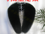 真皮草狐狸毛毛领 来样订做各类真毛皮毛领 厂家批量生产 桐乡