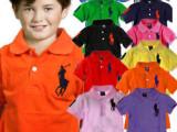 外贸广东童装批发 POLO衫中大童翻领纯珠地棉大马标 儿童短袖