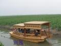 兴泓景区观光手划船休闲旅游摇橹船高低蓬手工木船