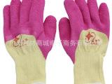21黄纱半浸胶手套 劳保/劳防手套批发/耐酸碱、抗腐蚀、防渗透