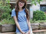 2015新款短袖t恤夏装韩版女装阿里巴巴货源网代理加盟印花纯棉t