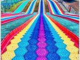 户外游乐设施必玩 彩虹滑梯 七彩滑道 好玩四季滑道 厂家直销