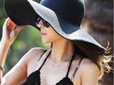 2014新款大沿帽沙滩遮阳宽檐 草帽夏季女出游必备帽子批发
