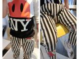 秋装2014新款童装 儿童长裤男童条纹哈伦裤 宝宝卡通休闲裤子