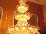 欧式复式楼客厅大吊灯酒店工程大吊灯别墅水晶灯楼梯灯长吊灯具