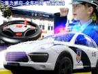 大型电动充电方向盘遥控警车遥控汽车玩具批发小孩儿童玩具