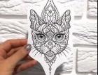 猫纹身 梵花纹身 上海纹身 闵行纹身