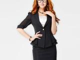 6575秋季新款韩版女士夏装职业装中袖OL套装雪纺外套小西装