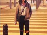6700 2014年女装秋季新款欧美大牌街拍韩国棒球服棒球外套