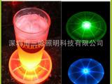 供应LED发光飞盘 欧美流行水上玩具 充气发光飞盘