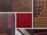 皮绒烫金产品-服装面料 麂皮绒复合烫金印花布 男装