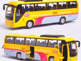 升辉 宇通大巴 客车声光旅游/机场巴士 3门 合金回力玩具汽车模