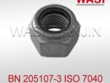 万喜铁路专用耐高温尼龙锁紧螺母ISO7040