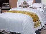 酒店布草宾馆床上用品四件套工厂直销 可定制全棉三分条好质量