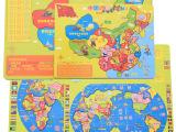 少儿版木制中国地图世界地图拼图 益智力木制拆装玩具 厂家直销
