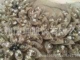 厂家直营 手工定制 服装钉钻配饰 双层面料折叶形A钻花心 网布底