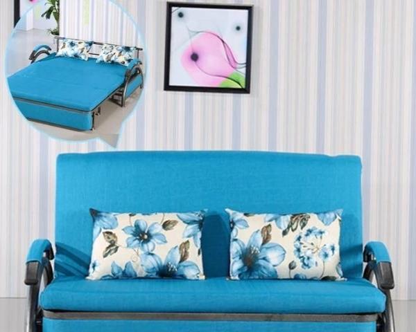 多功能沙发床1.2米折叠沙发床转让,双人推拉简约现