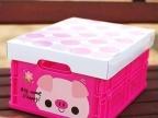 新款大号粉色小猪伸缩储物箱