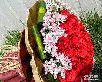 11支淡绿色 玫瑰花束花盒同城预定送花上门