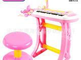供应多功能儿童电子琴配麦克风 益智女孩礼物 可充电宝宝启蒙乐器