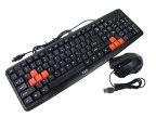 【荐】羿血狼 Q6 办公游戏键鼠套装[P+U] 键盘鼠标批发