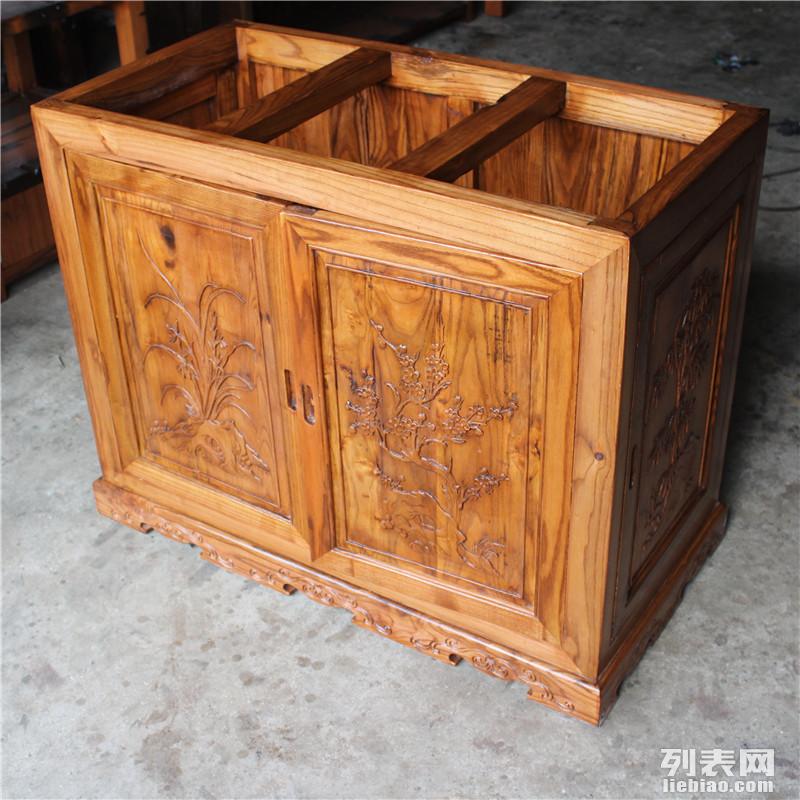 天津老船木鱼缸价格 茶桌款式大全