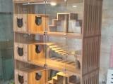 猫别墅猫咪柜笼猫产房猫舍猫咪展示笼繁育笼猫笼子猫窝实木柜笼