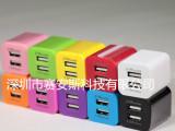 厂家直销经典款手机配件5V2.1A 美规欧规 双USB大绿点 手