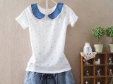 2014新款夏装韩国甜美娃娃领女式短袖t恤女服装 一件代发 30