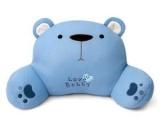 毛绒玩具卡通蓝色小熊腰靠,家居抱枕,卡通