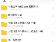 刘星 波段钓鱼战法 U盘教程+软件+资料,新出