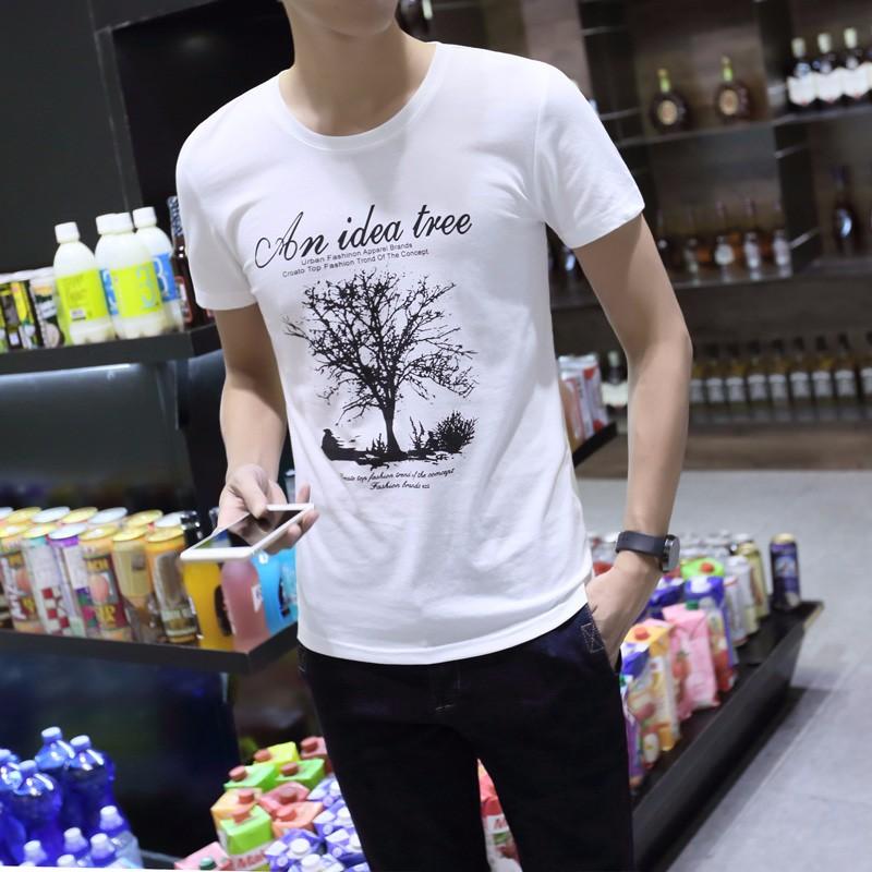 哪里男式T恤短袖批发厂家直销韩版纯棉大码男装T恤短袖批发
