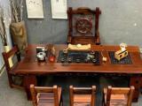 老船木家具现代龙骨茶桌实木复古功夫茶台室内办公茶艺桌客厅茶几