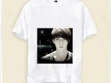 来图定做EXO鹿晗短袖T恤 班服粉丝活动后援会明星周边产品文化衫