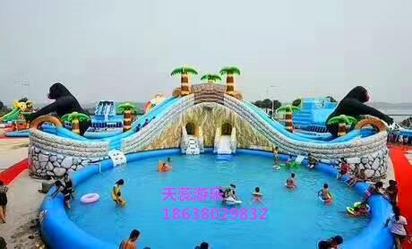 天蕊游乐供应水上乐园水滑梯各种款式规格水上漂浮物支架水池扬州