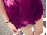 夏装新款韩版超美气质百搭多色亮色泰丝短裤女裤子潮