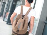 厂家直销帆布包休闲双肩背包女复古学院风学生包男大容量旅行包