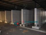 工厂直销 专业订做工厂外贸公司样品间用双面万用槽板展示架