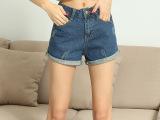 2015夏季新款牛仔短裤女 韩版修身热 裤大码女裤中腰牛仔裤批发